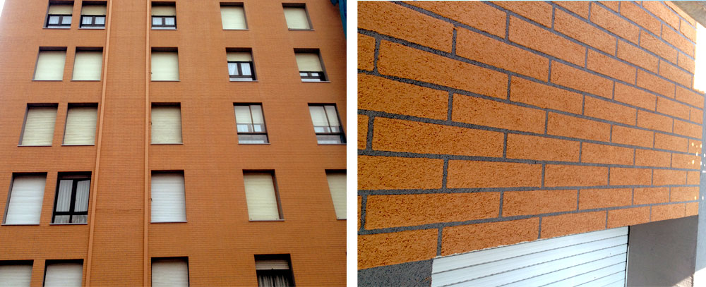 Aislamiento de edificios con acabado caravista