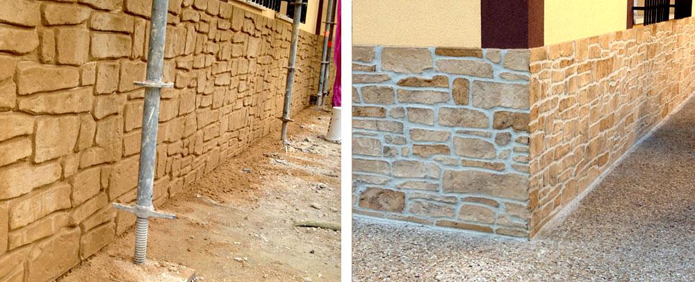 Reforma de aislamento de fachada con acabado piedra
