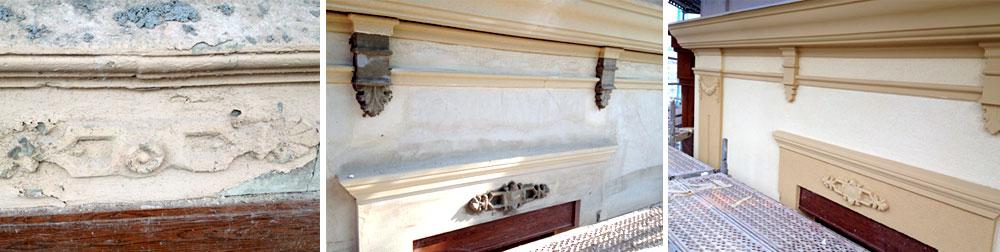 rehabilitacion de fachadas y cornisas decorativas