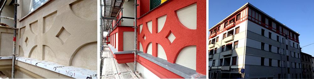 Reforma edificios con molduras decorativas