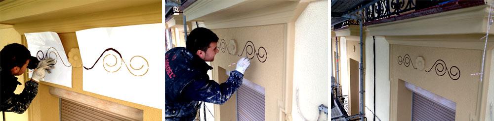 rehabilitacion y aislamento para fachada con pinturas decorativas