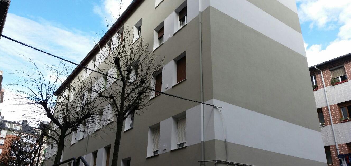 Detalle fachada después